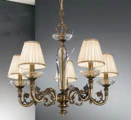 Crystal Chandelier Lamp Shades Kolarz Contarini 5 Light Antique Brass Chandelier With