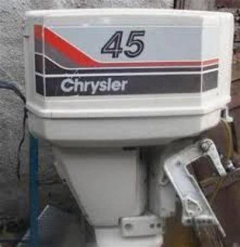 chrysler motor chrysler 35 45 55 hp outboard motor workshop service