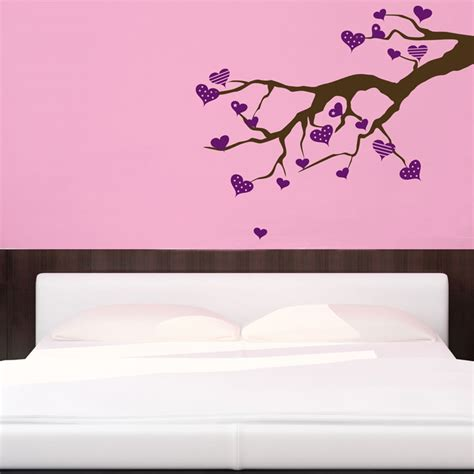 hearts wall stickers branch wall decals