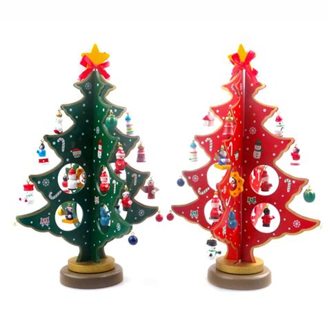 pcs diy wooden christmas tree tabletop christmas tree