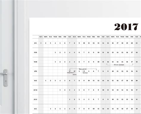 free printable wall planner a3 2017 wall calendar a1a2a3 size printable calendar 2017