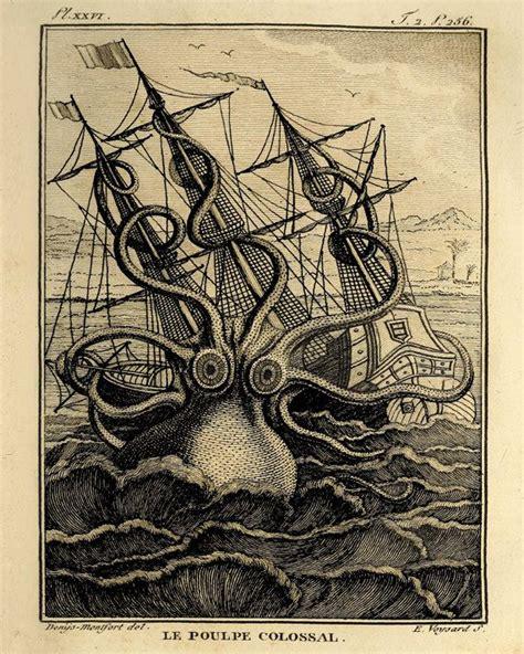 printable art works octopus art large art print old prints nautical art print