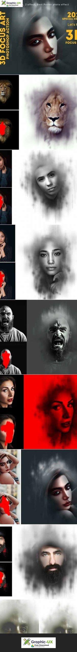 focus art effect photoshop action graphicux