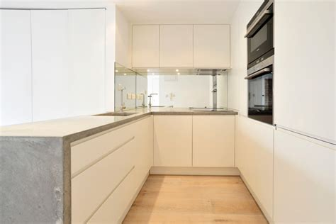contemporary kitchen worktops concrete worktops shoreditch contemporary kitchen