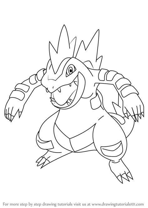 pokemon coloring pages feraligatr learn how to draw feraligatr from pokemon pokemon step