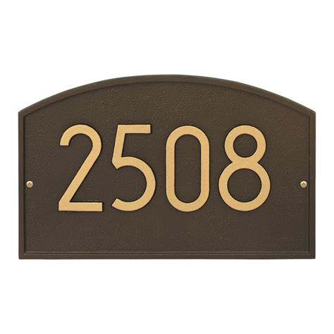address numbers legacy modern address plaque wall