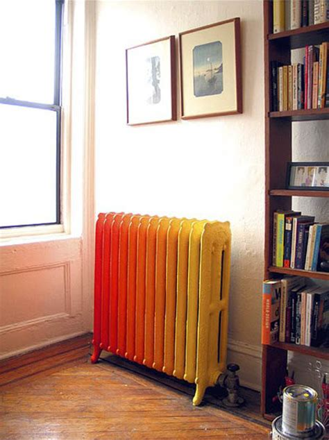 painting heaters and cast iron radiators stylish accents in retro style interior design
