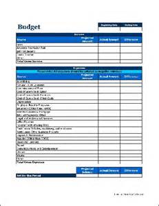 Budget Forms Templates Free Business Budget From Formville