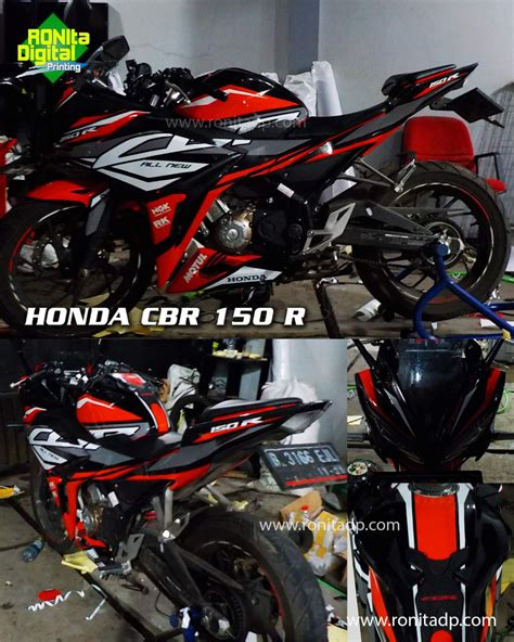 Decal Cbr 150 Facelift Motohits Fullbody Pola Cutting striping honda cbr 150r facelift 10