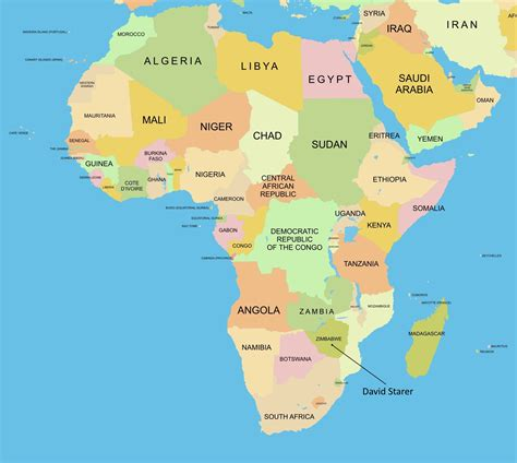 africa map for students students