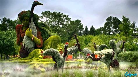 Montreal Botanic Garden Amazing Living Sculptures At Montreal Botanical Garden I Mosaicultures Internationales