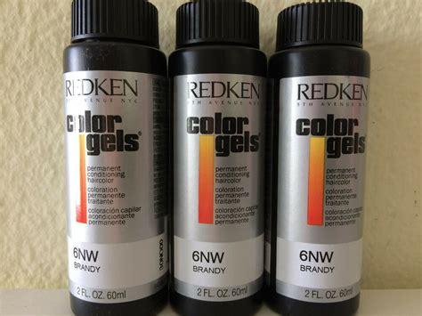 redken color gels three redken color gels 6nw permanent conditioning