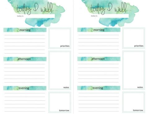 printable daily planner pages 2017 planner printables the crazy craft lady