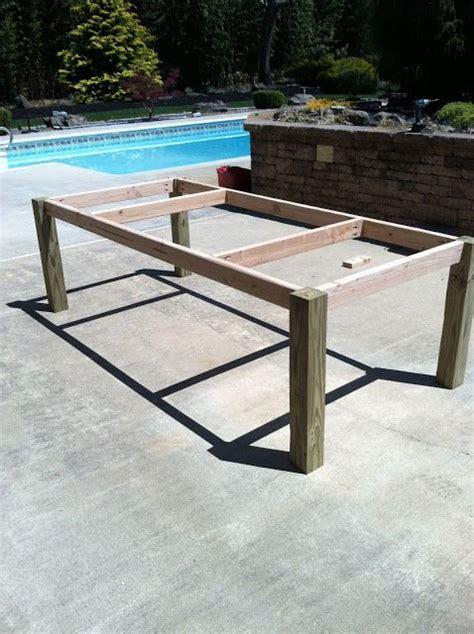 building   outdoor wood farm table craft ideas