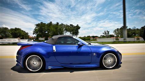 nissan  roadster wallpapers hd convertible blue