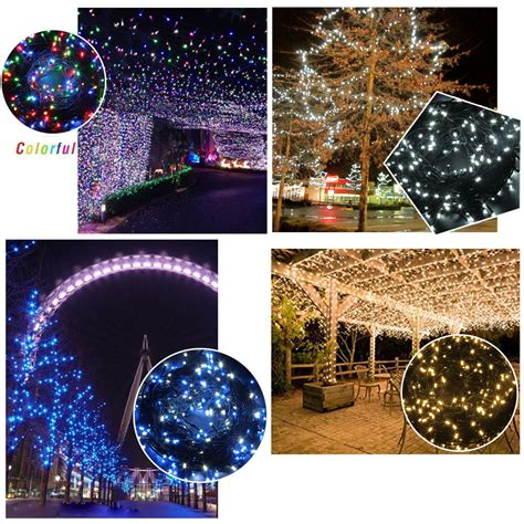 Outdoor Electric String Lights Tree String Light Indoor Outdoor Electric Lights Diy 164feet 24v White Blue Ebay
