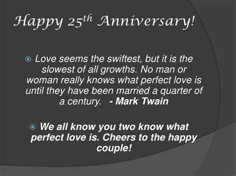 Wedding Anniversary Speech For Parents by 25th Anniversary Speeches Anniversary Quotes