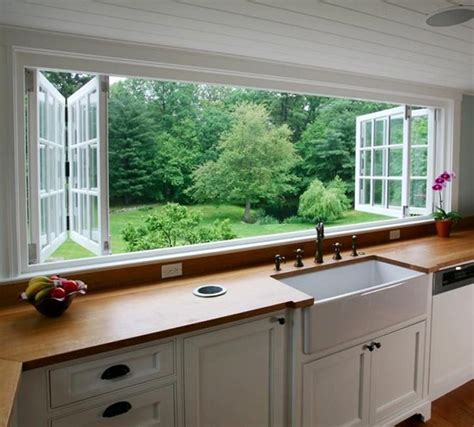 Windows That Open Out Ideas What S Not To About These Kitchen Windows They Open Out To The Deck Out Back Stairway