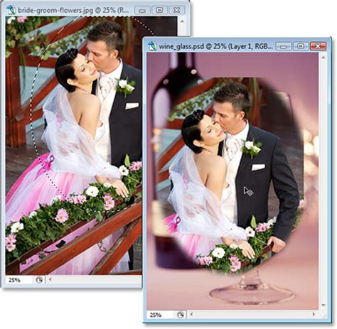tutorial edit photo wedding photoshop wedding couple in wine glass photoshop tutorial