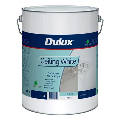 Ceiling Paint White by Dulux 10l White Ceiling Paint Bunnings Warehouse