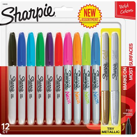 colored permanent markers sharpie permanent markers point assorted colors 12
