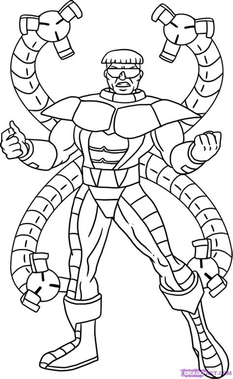 Doctor Octopus Coloring Pages Az Coloring Pages Doctor Octopus Coloring Pages