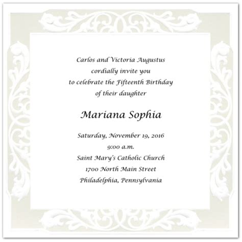 quince invitation templates invitation templates quinceanera invitation wording