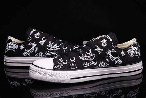 white pattern converse converse chuck taylor all star 70 black white pattern low