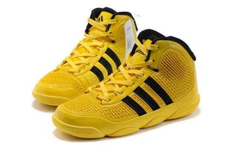 yellow adidas basketball shoes adidas adipure basketball shoes yellow black shoes 21037