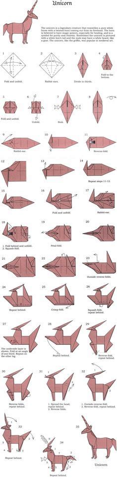 Easy Origami Unicorn - easy origami animals page 2 of 6 contents origami