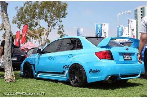 custom blue subaru blue subaru sti wrap wrapfolio