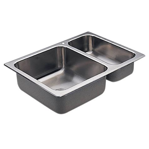Moenstone Kitchen Sinks Moen 2000 Series Drop In Stainless Steel 25 5 In 1 Bowl Kitchen Sink G202721 The