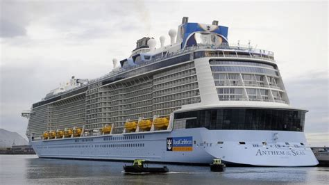 royal caribbeans newest ship royal caribbean cruise ship rocked by hurricane force