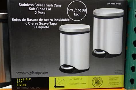 Costco Bathroom Trash Can Costco Sale Sensible Eco Living Stainless Steel Trash