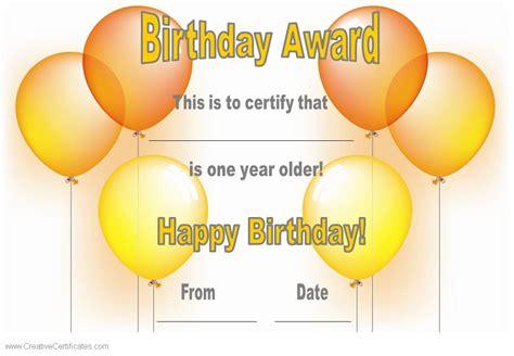 happy birthday certificate templates free search results for birthday gift certificate templates