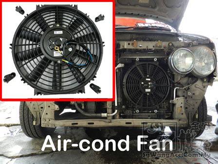 sungai wang car air cond adding  extra air cond fan