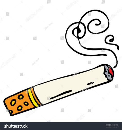 Cartoon Cigarette Stock Vector 80684053   Shutterstock