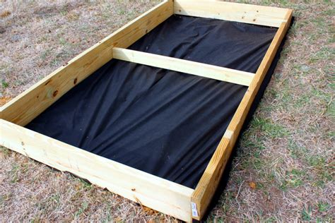 Landscape Fabric Diy Diy Square Foot Garden Box Tutorial