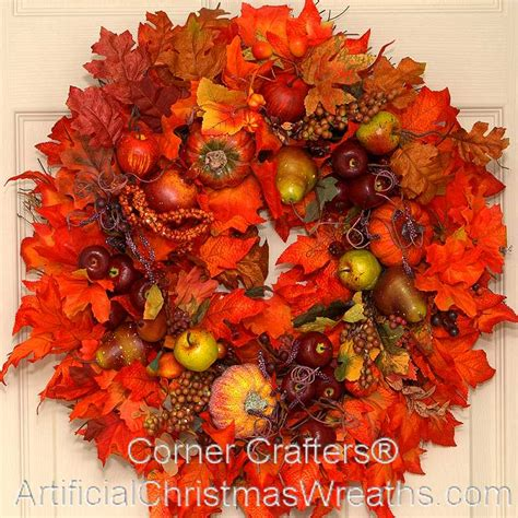 autumn wreaths apple orchard wreath artificialchristmaswreaths com