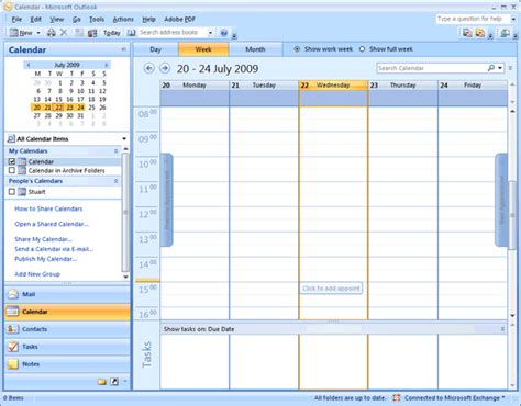 How To Access My Calendar Nexus Calendars Using Outlook 2007 It Services Help Site