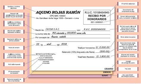 modelo recibo por prestacin de servicios con retencion recibo por honorarios comprobantes de pago
