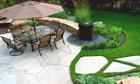 backyard patio ideas for small spaces modern water