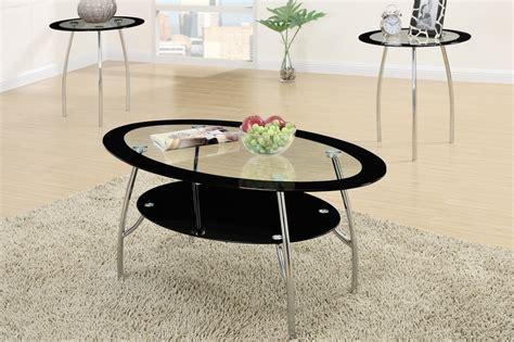 Black Glass Coffee Table Set Poundex F3099 Black Glass Coffee Table Set A Sofa Furniture Outlet Los Angeles Ca