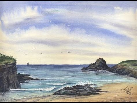 paint a cornish seascape in watercolours with matthew palmer www watercolour tv