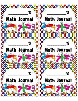 printable math journal labels journal labels science writing math spelling reading