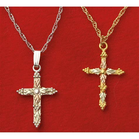 mt rushmore 174 black gold 174 cross necklace silver