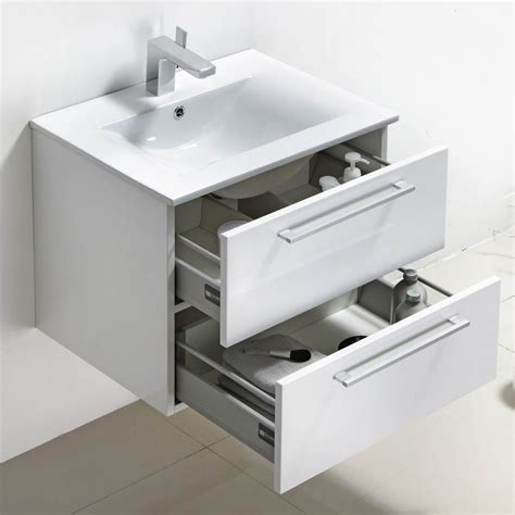 white bathroom vanity 24 buy caen 24 inch wall mount modern bathroom vanity set
