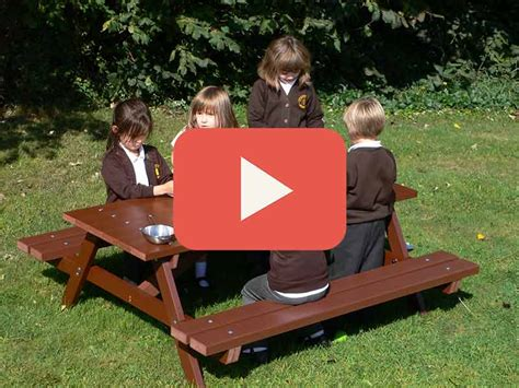 children s plastic picnic table childrens picnic table recycled plastic delux