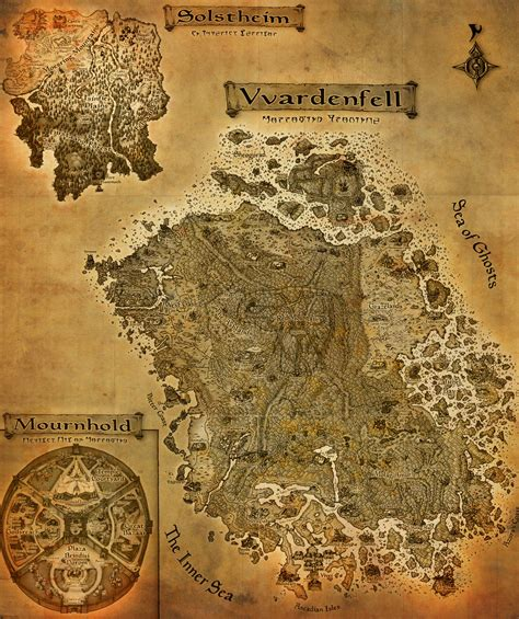morrowind map the elder scrolls iii morrowind a3 map by crashelements on deviantart
