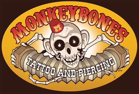 monkey bones tattoo monkey bones sign on behance